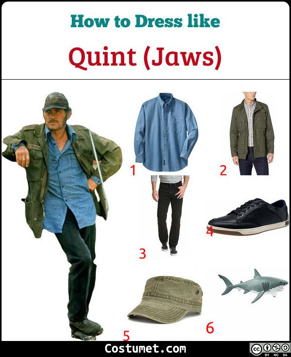 Quint (Jaws) Costume for Cosplay & Halloween