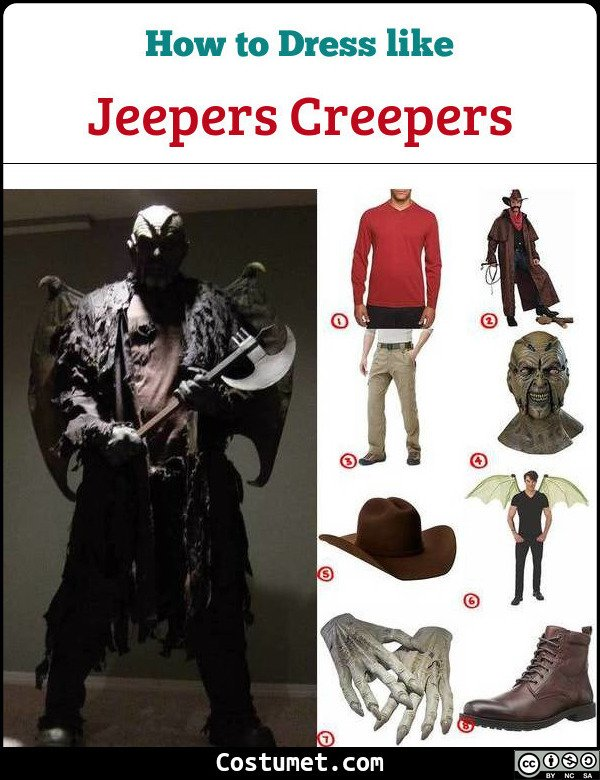 Jeepers Creepers Costume for Cosplay & Halloween