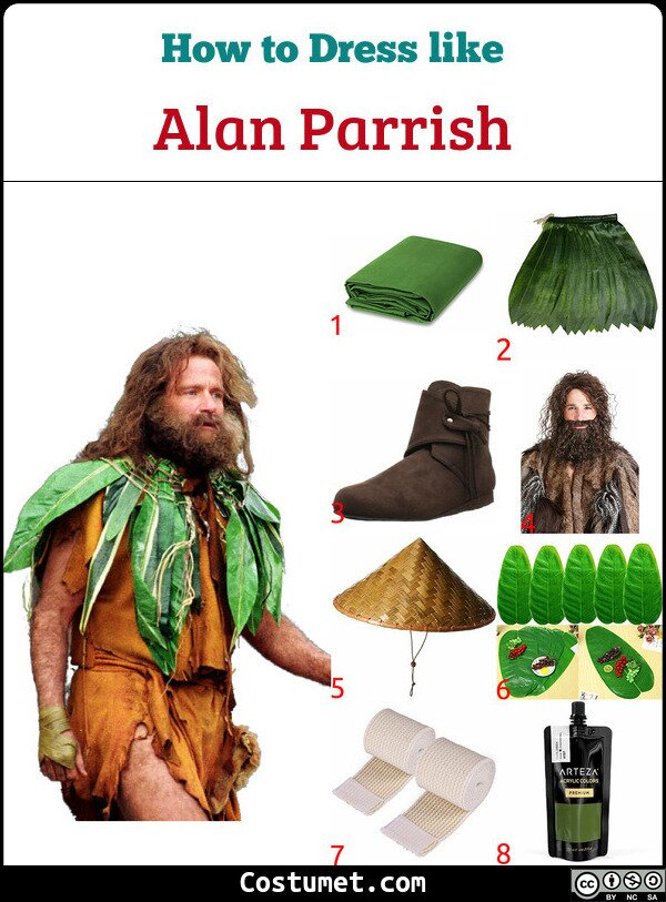 Alan Parrish Costume for Cosplay & Halloween