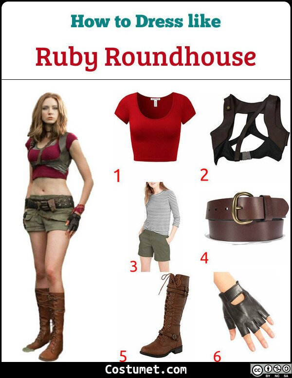 Ruby Roundhouse Costume for Cosplay & Halloween