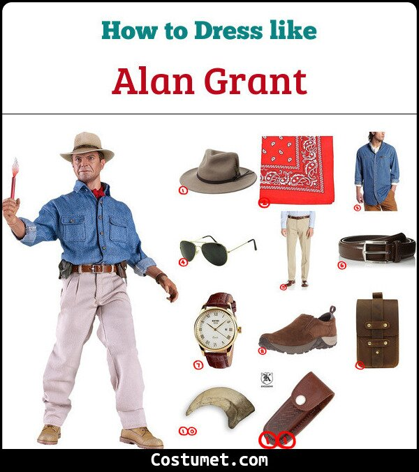 Dress Like Alan Grant From Jurassic Park For Cosplay