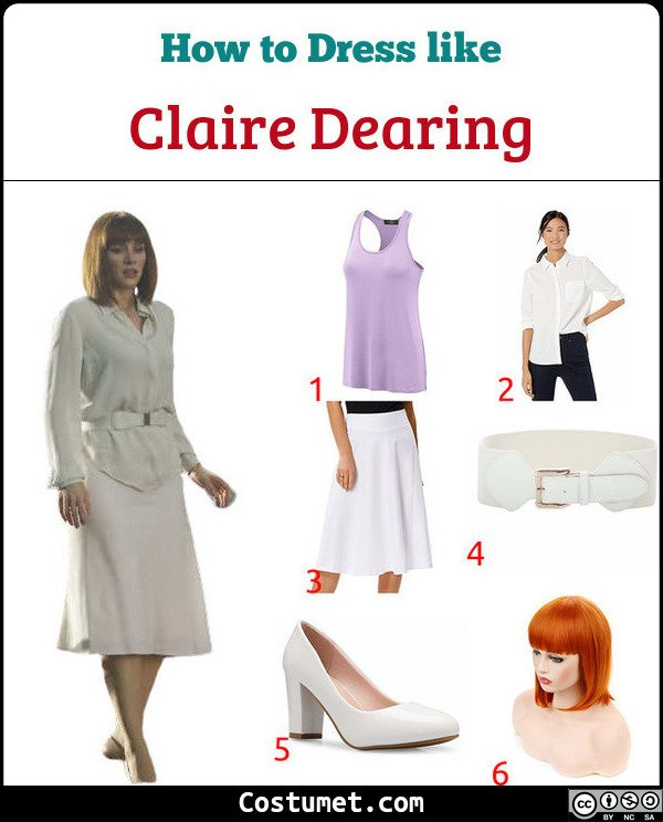 Claire Dearing Costume for Cosplay & Halloween
