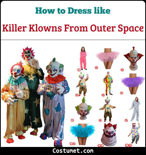 Killer Klowns From Outer Space Costume for Cosplay & Halloween