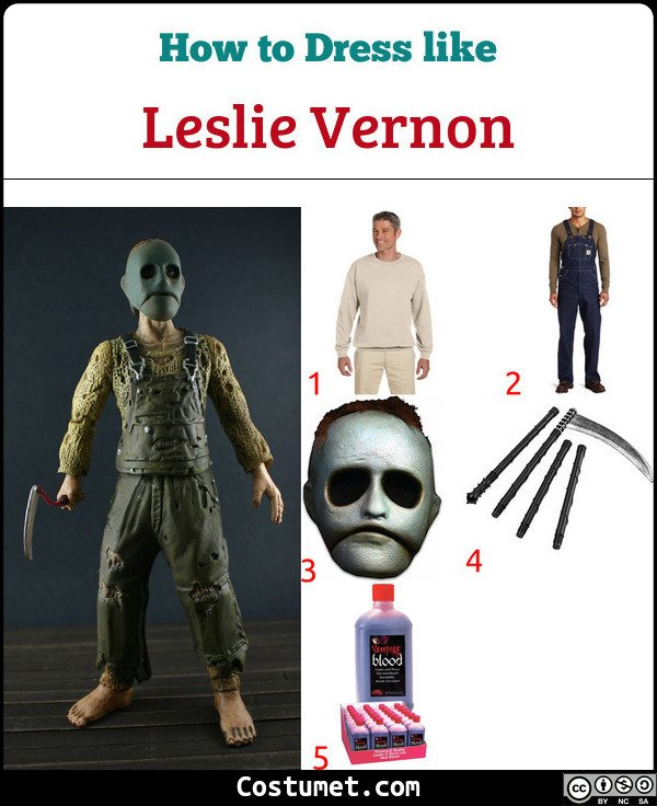 Leslie Vernon Costume for Cosplay & Halloween