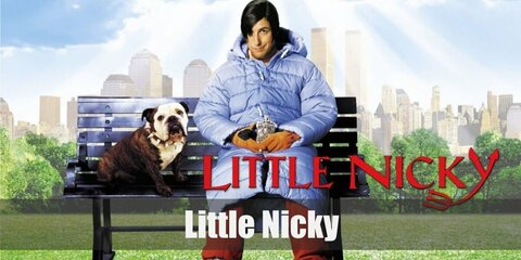 Little Nicky costume is cozy featuring a puff down jacket and red pants. Complete the look with orange gloves and side clip-on bangs, too.