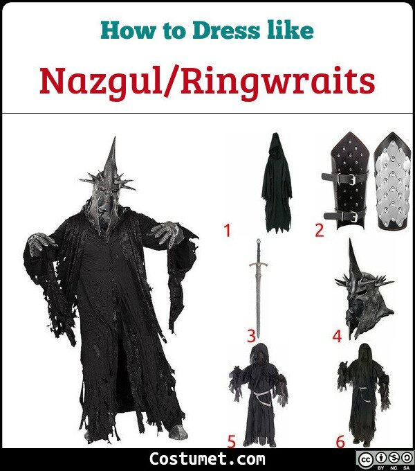 Nazgul/Ringwraits Costume for Cosplay & Halloween