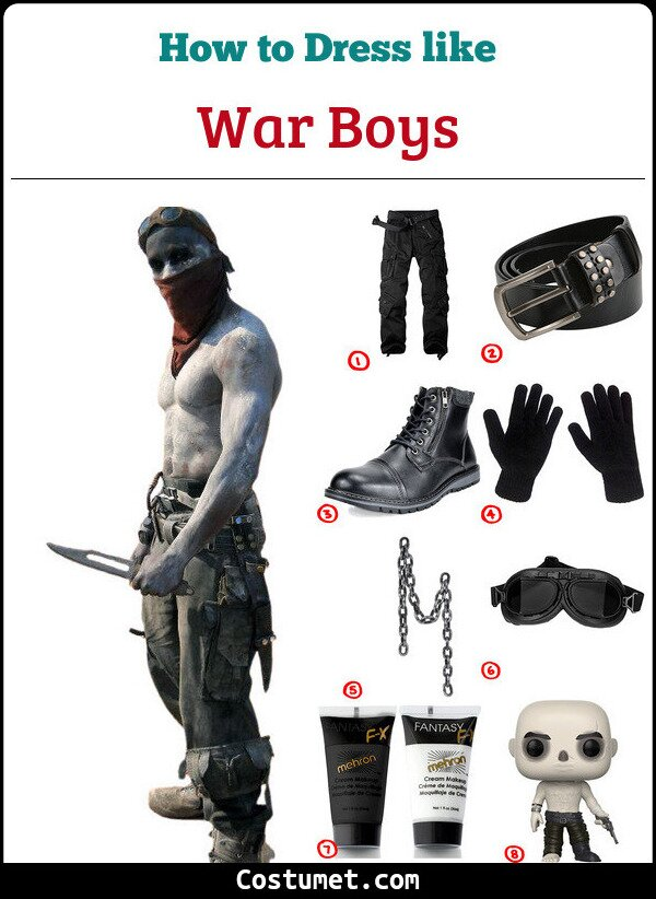 Dress Like War Boy Nux From Mad Max Costume For Cosplay Halloween