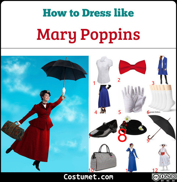 Mary Poppins Costume for Cosplay & Halloween