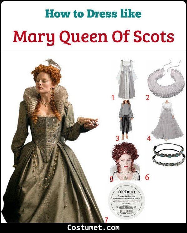 Mary Queen Of Scots Costume for Cosplay & Halloween