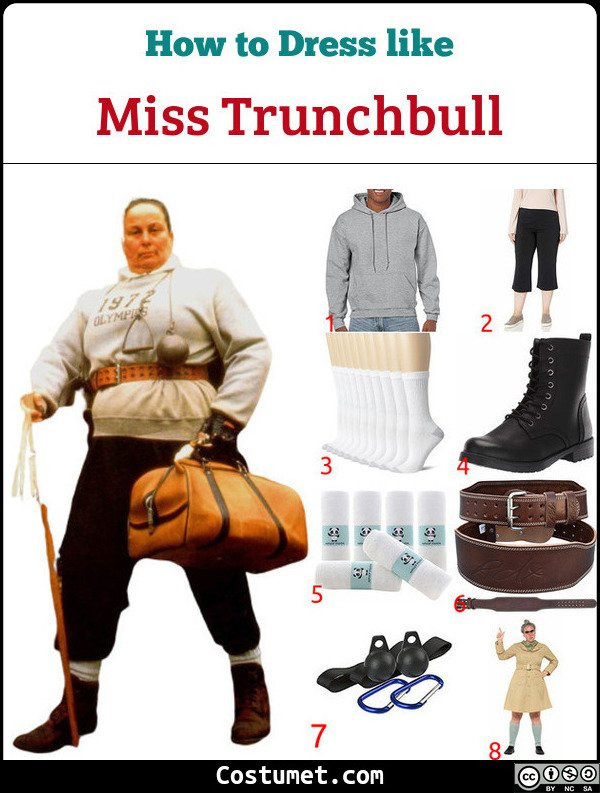 Miss Trunchbull Costume for Cosplay & Halloween