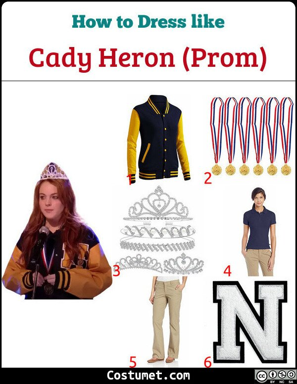 Cady Heron (Prom/Spring Fling) Costume for Cosplay & Halloween
