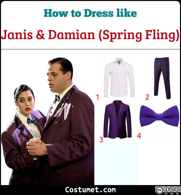 Janis & Damian (Spring Fling) Costume for Cosplay & Halloween