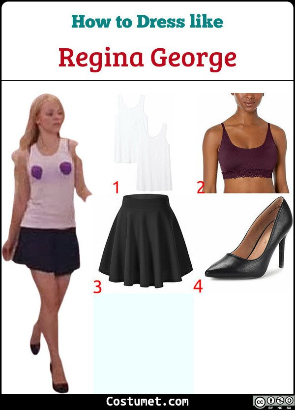 Regina George Ripped Top/Bra Costume for Cosplay & Halloween1