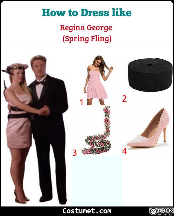 Regina George (Spring Fling/Prom) Costume for Cosplay & Halloween