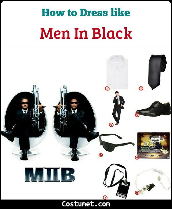 Men In Black Costume for Cosplay & Halloween