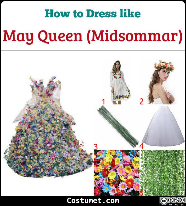 May Queen (Midsommar) Costume for Cosplay & Halloween