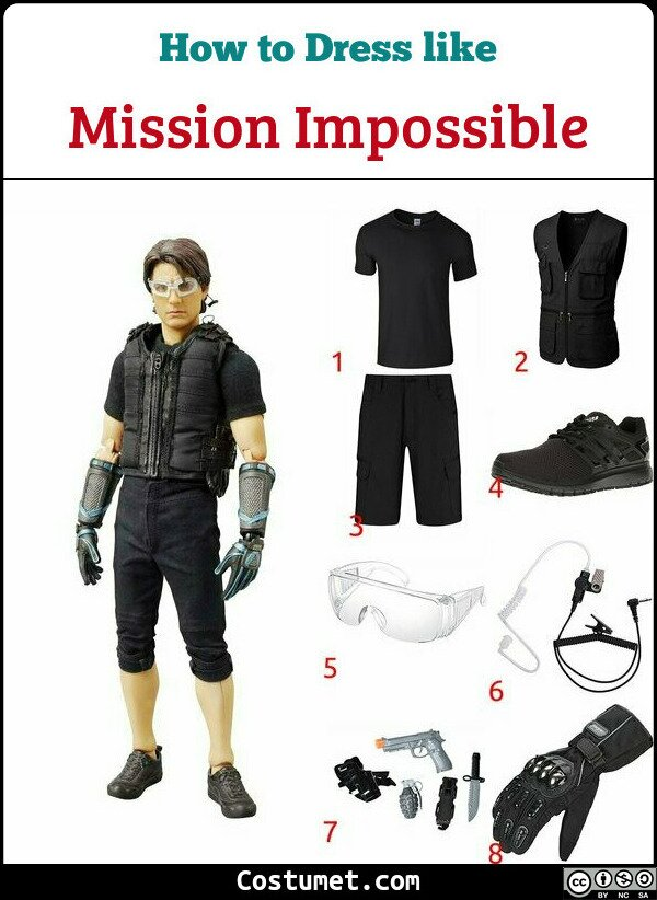 Mission Impossible Costume for Cosplay & Halloween
