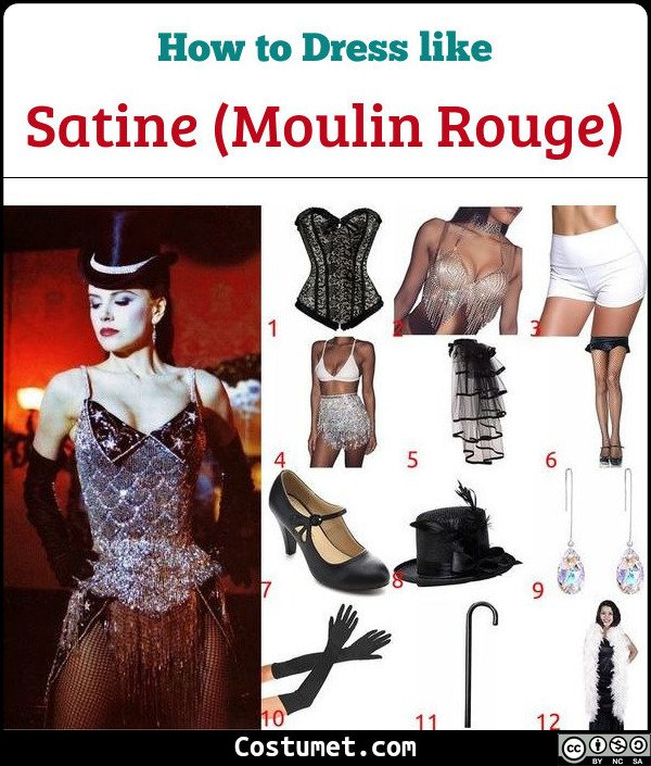 Moulin Rouge Satine Costume for Cosplay & Halloween