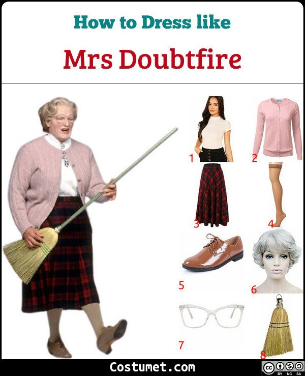 Mrs Doubtfire Costume for Cosplay & Halloween