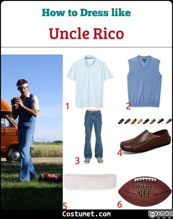Uncle Rico Costume for Cosplay & Halloween