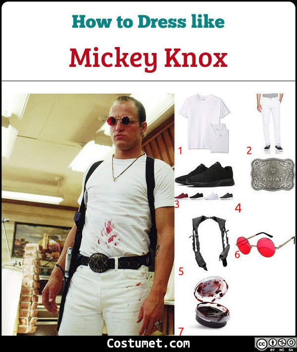 Mickey Knox Natural Born Killers Costume for Cosplay & Halloween