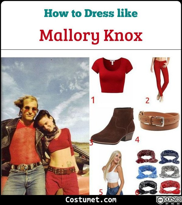 Mallory Knox Natural Born Killers Costume for Cosplay & Halloween