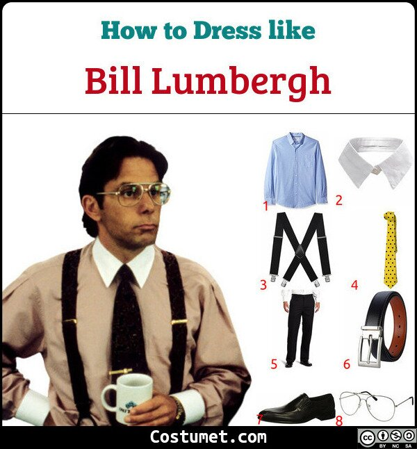 Bill Lumbergh Costume for Cosplay & Halloween