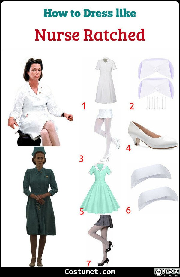 Nurse Ratched Costume for Cosplay & Halloween