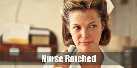 Nurse Ratched's costume is her 1975 white uniform and her Netflix green uniform. Nurse Ratched is one of the most hated film villains in history.
