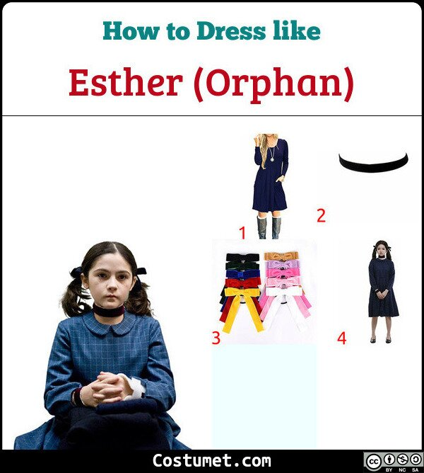 Esther (Orphan) Costume for Cosplay & Halloween