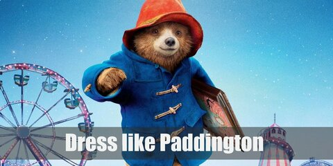 Paddington Bear is one of the most beloved bears in the world (and probably the most beloved in the UK). Paddington is cute, light brown bear with a very distinct outfit. He loves wearing a red bucket hat from his Uncle, and a blue button-down coat he got from the Browns. He's also very partial to his brown suitcase.