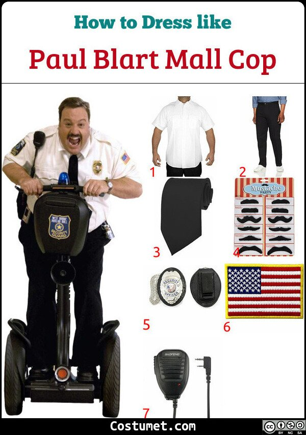 Paul Blart Mall Cop Costume for Cosplay & Halloween