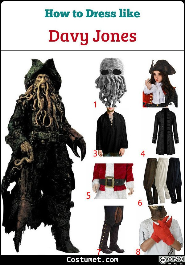 Davy Jones Costume for Cosplay & Halloween