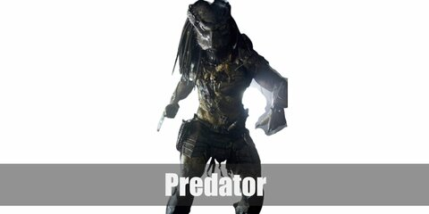 Predator's costume is a full body suit, armor, and a helmet created to look as close to the character as possible.