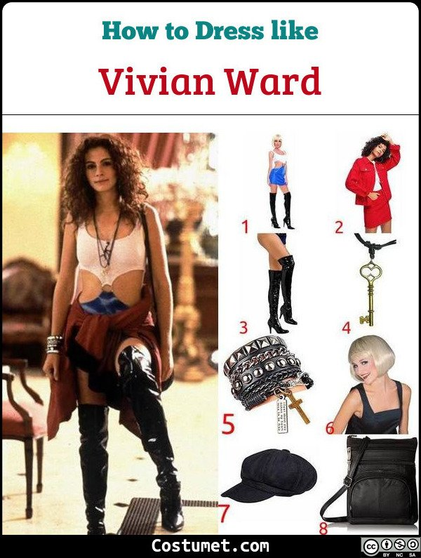 Vivian Ward Pretty Woman Costume for Cosplay & Halloween