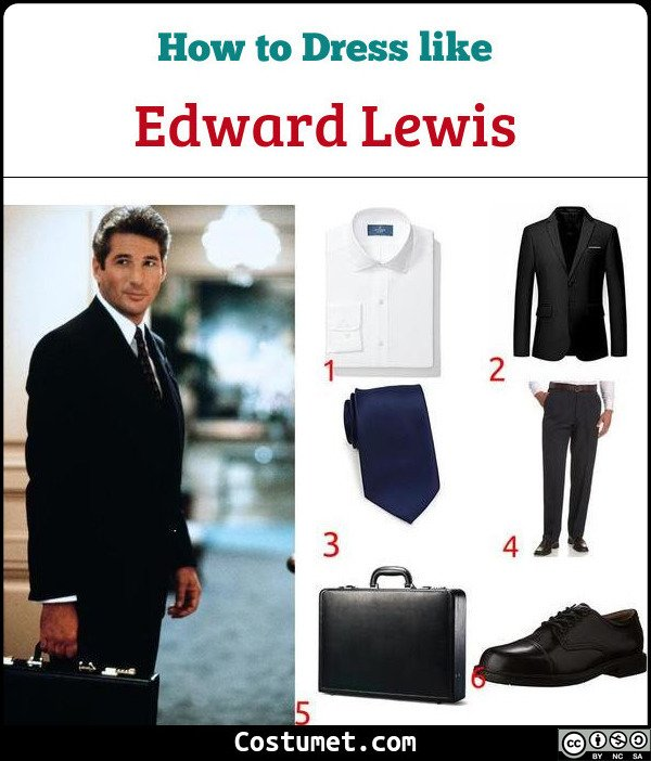 Edward Lewis Pretty Woman Costume for Cosplay & Halloween