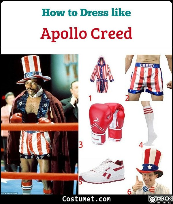 Apollo Creed Costume for Cosplay & Halloween