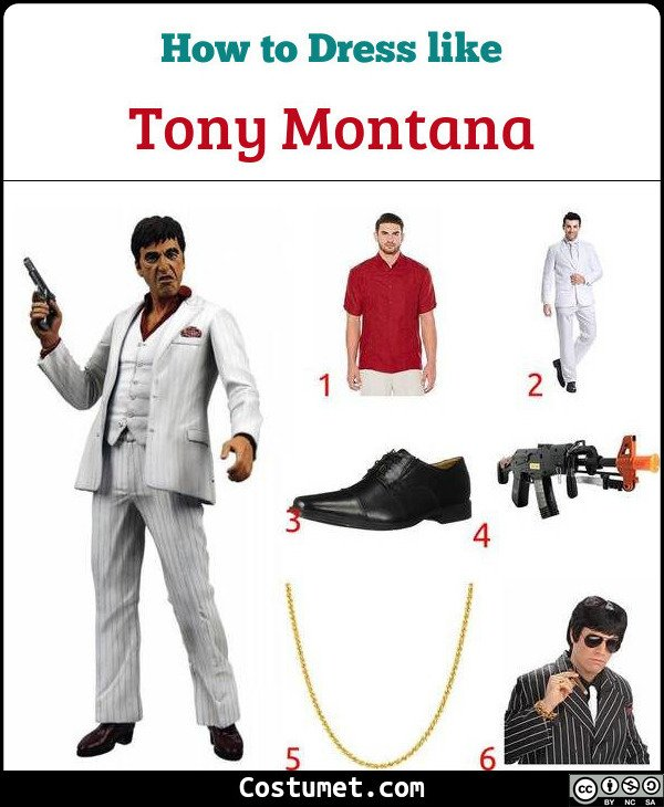 Tony Montana (Scarface) Costume for Cosplay & Halloween