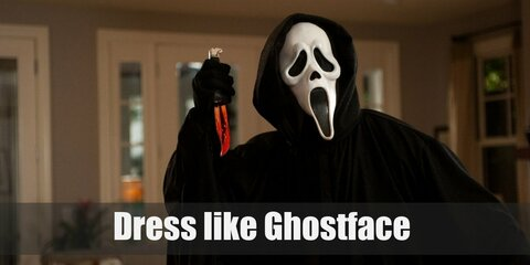 Ghostface costume itself might not seem like much at a first glance, but the scariest thing about this costume is that it truly hides every part of the person underneath, even down to their voice.