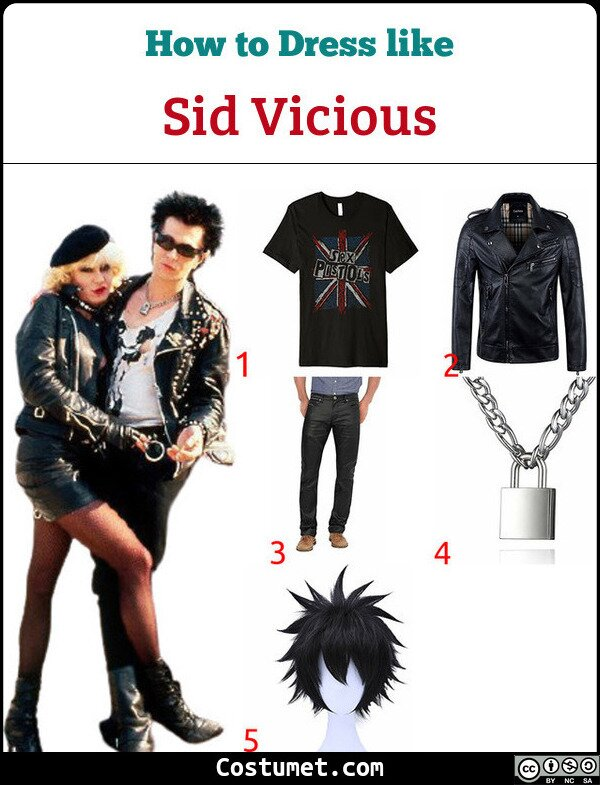 Sid Vicious Costume for Cosplay & Halloween