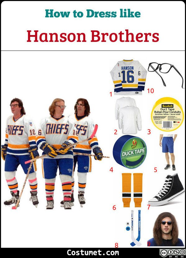 Hanson Brothers Costume for Cosplay & Halloween