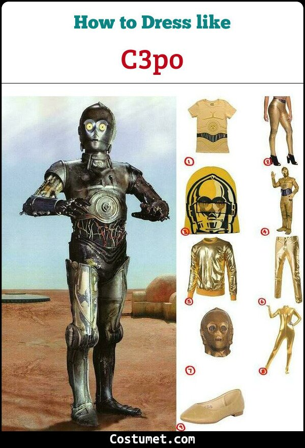 Create Your Own Star Wars C-3PO Costume for Cosplay   Halloween ecc3f3f3fc0d