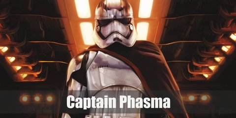 Captain Phasma costume is upgraded Stormtrooper uniform. Hers is sleek and silver, and even has a billowing black cape attached to it.