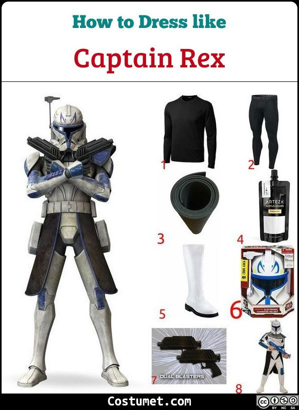 Captain Rex Costume for Cosplay & Halloween