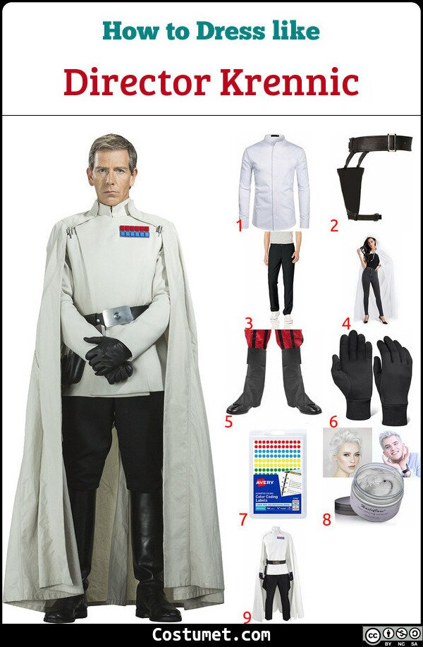 Director Krennic Costume for Cosplay & Halloween