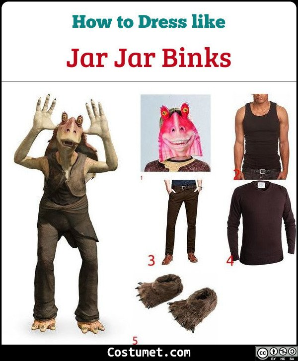 Jar Jar Binks Costume for Cosplay & Halloween