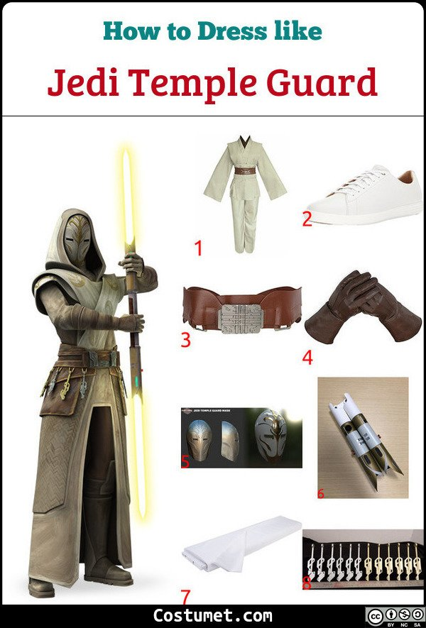 Jedi Temple Guard Costume for Cosplay & Halloween