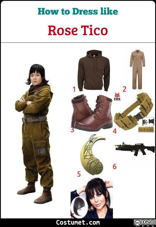 Rose Tico Costume for Cosplay & Halloween
