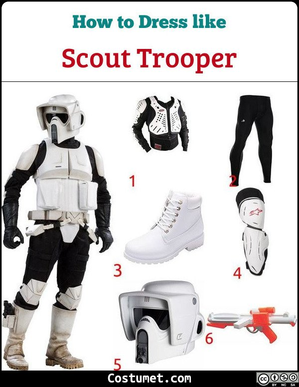 Scout Trooper Costume for Cosplay & Halloween