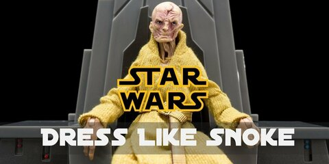 Snoke favorite piece of clothes is golden silk robe, which perfectly suits his skinny body